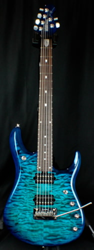 ERNIE BALL MUSIC MAN JP BFR6 Quilt Balboa Blue Burst, Brand New, Original Hard, $2,999.00