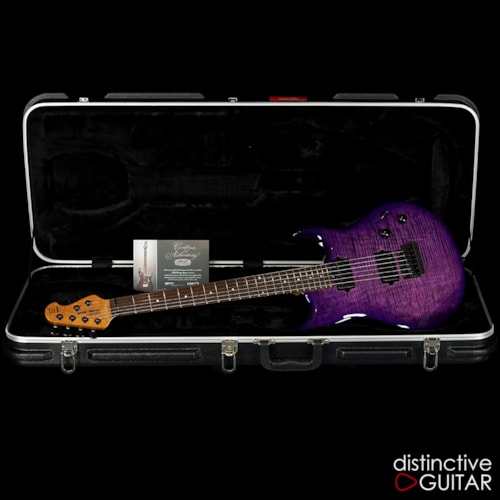 Ernie Ball Music Man Luke III BFR Boysenberry Flame, Brand New, Original Hard