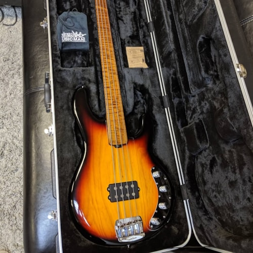 Ernie Ball Musicman BFR Stingray Fretless Sierra Burst