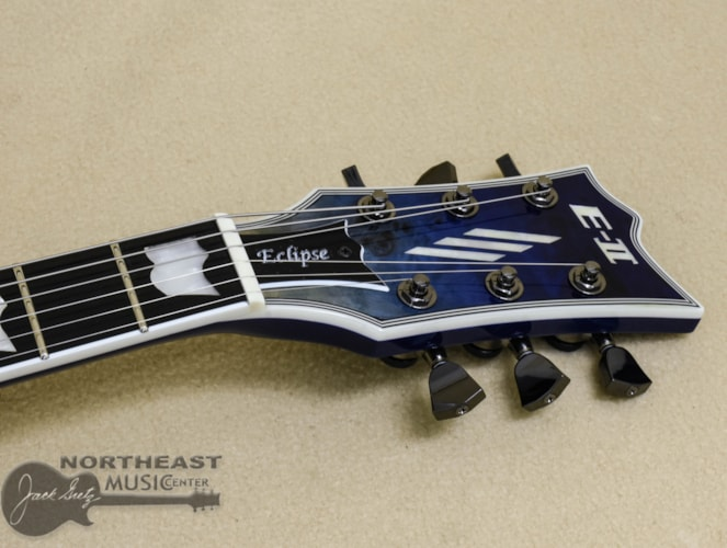 ESP E-II Eclipse Burl Maple - Blue Natural Fade