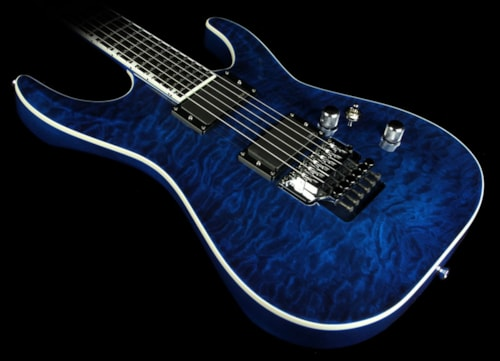 ESP Horizon FRII Electric Guitar Quilted Maple Top Ebony Fingerboard Black Aqua Brand New, $1,999.00