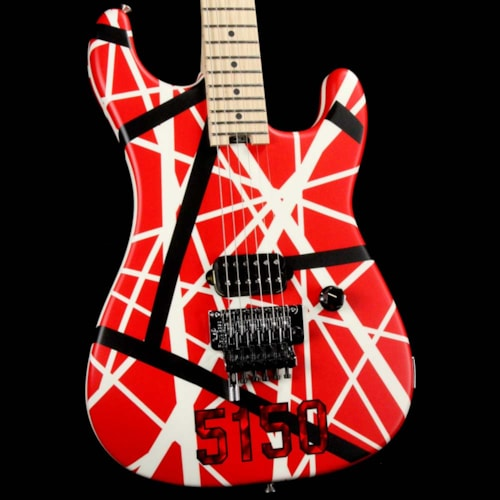 EVH Striped Series 5150 Striped Red Black and White Excellent $1,149.00