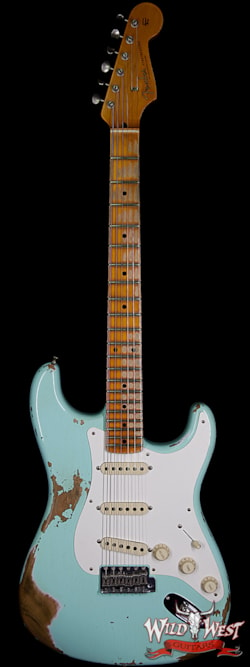2019 Fender Custom Shop 1957 Stratocaster Heavy Relic Maple Neck Surf Green