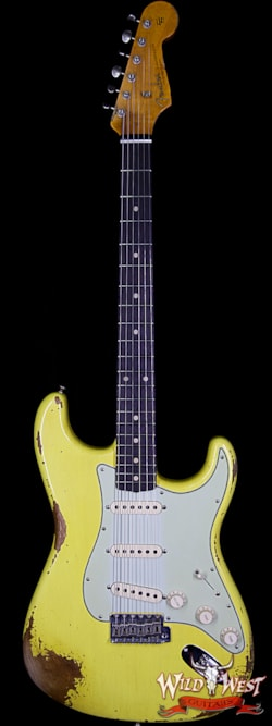 2019 Fender Custom Shop 1961 Stratocaster Heavy Relic AAA Rosewood Fingerboard Graffiti Yellow