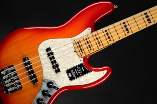 Fender American Ultra Jazz Bass V - Plasma Red Burst