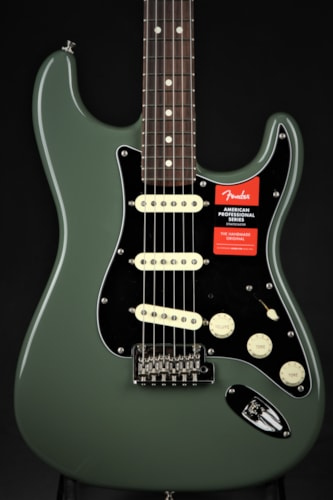 Fender American Professional Stratocaster - Antique Olive Brand New, Hard