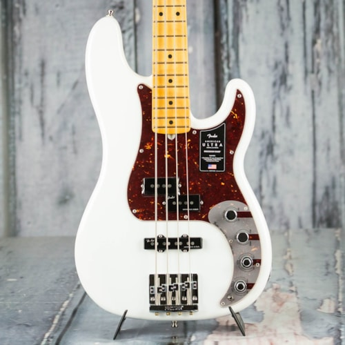 Fender American Ultra Precision Bass, Maple Fingerboard, Arctic Pearl