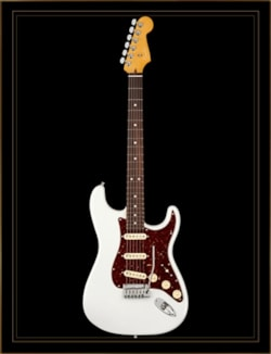 Fender American Ultra Stratocaster in Arctic Pearl with Rosewood Fingerboard