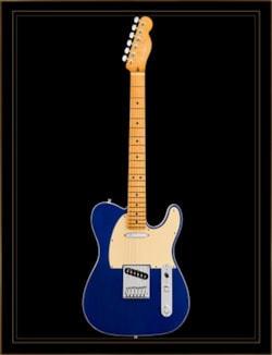 Fender American Ultra Telecaster in Cobra Blue with Maple Fingerboard