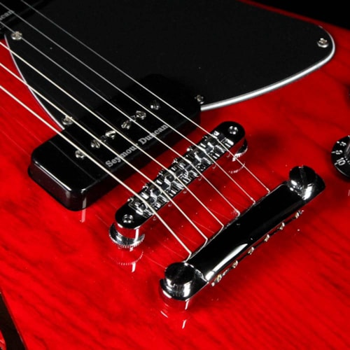 Fender Artist Jim Adkins JA-90 Telecaster Thinline Crimson Transparent Red Excellent, $579.00