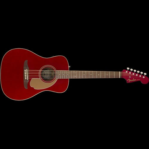 Fender California Series Malibu Player Acoustic Candy Apple Red