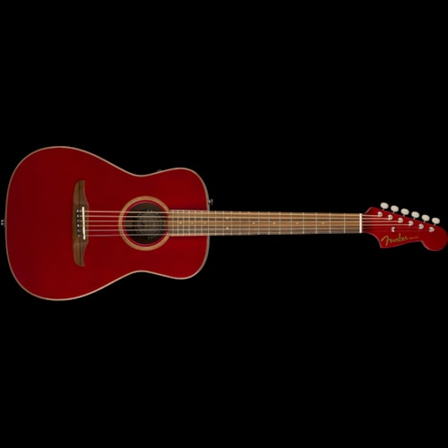 Fender California Series Malibu Classic Acoustic Hot Rod Red Metallic Brand New