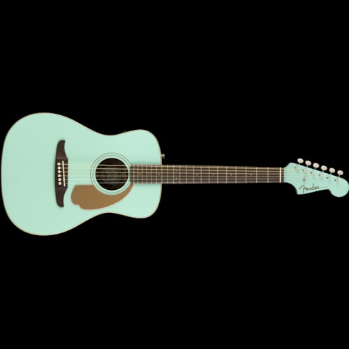 Fender California Series Malibu Player Acoustic Aqua Splash Brand New $399.99