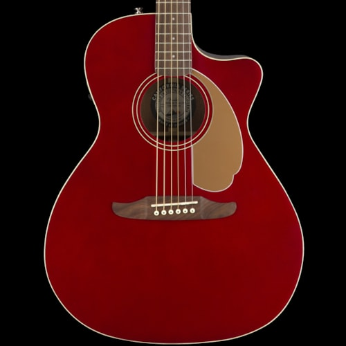 Fender California Series Newporter Player Acoustic Candy Apple Red Brand New