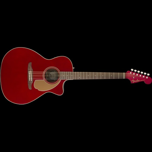 Fender California Series Newporter Player Acoustic Candy Apple Red