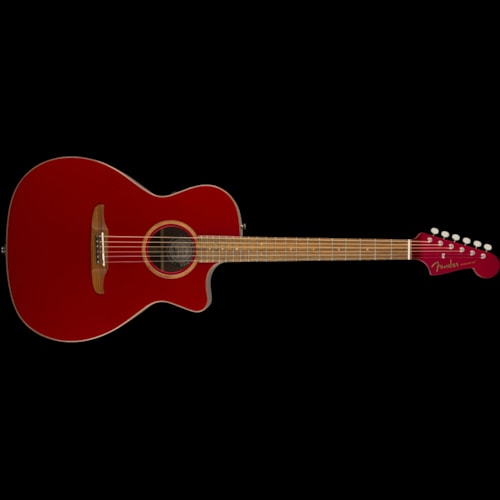 Fender California Series Newporter Classic Acoustic Hot Rod Red Metallic Brand New
