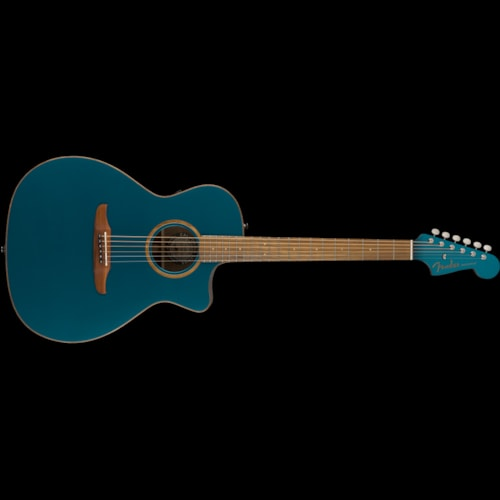 Fender California Series Newporter Classic Acoustic Cosmic Turquoise Brand New $799.99