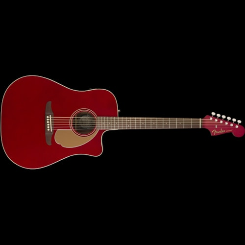 Fender California Series Redondo Player Acoustic Candy Apple Red