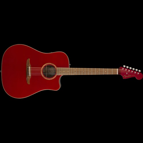 Fender California Series Redondo Classic Acoustic Hot Rod Red Metallic Brand New $799.99