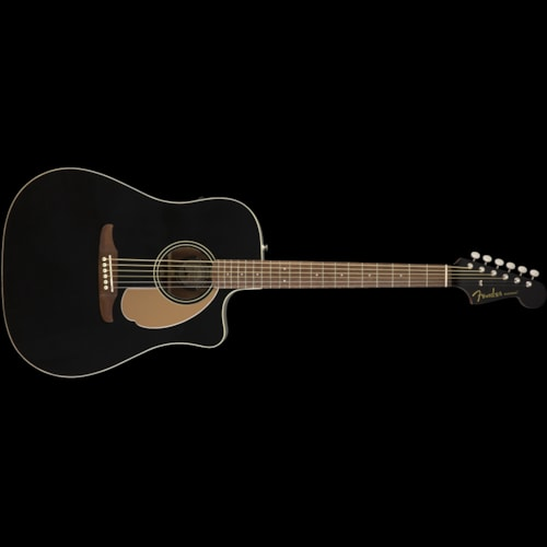 Fender California Series Redondo Player Acoustic Jetty Black Brand New