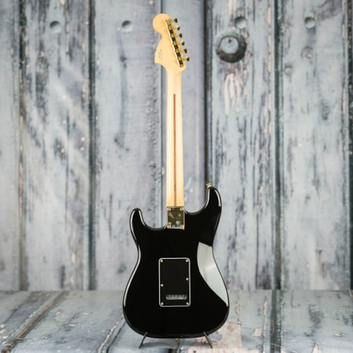 Fender Channel Exclusive Mahogany Blacktop Stratocaster, Black With Gold Hardware