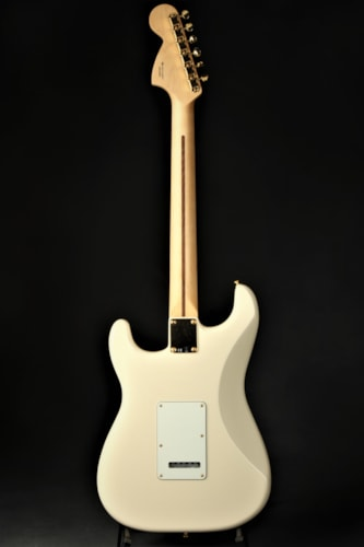 Fender Channel Exclusive Mahogany Black Top Stratocaster HHH - Olympic White
