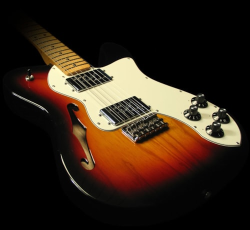 Fender Classic Player Telecaster Thinline Deluxe Electric Guitar 3-Tone Sunburst, Brand New, $799.99