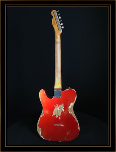 Fender Custom Shop 1963 Heavy Relic Compound Radius Telecaster Faded Candy Apple Red, Brand New, Original Hard, $4,150.00