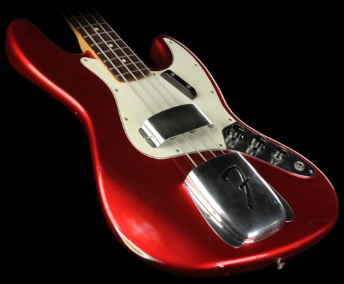 Fender Custom Shop 1998 Fender Custom Shop Vince Cunetto 60's Relic Jazz Bass Candy Apple Red Candy Apple Red, Excellent, $4,699.00