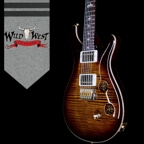 2020 Paul Reed Smith PRS Wood Library 10 Top Custom 24 Flame Maple Black Gold Burst