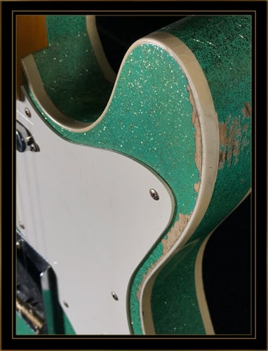 Fender Custom Shop 50s Tele Thinline Heavy Relic in Seafoam Green Sparkle