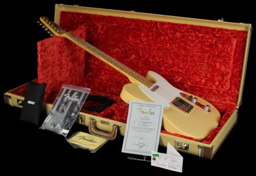 Fender Custom Shop '50s Telecaster Relic Nocaster Electric Guitar Blonde Blonde, Brand New, $3,599.99