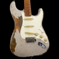 Fender Custom Shop '55 Stratocaster Roasted Ash Masterbuilt Jason Smith Ultimate Relic Dirty White Blonde