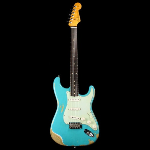 Fender Custom Shop '60 Stratocaster Faded Taos Turquoise Heavy Relic 2017 Excellent $2,999.99