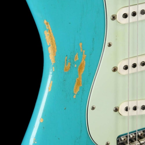 Fender Custom Shop '60 Stratocaster Faded Taos Turquoise Heavy Relic 2017