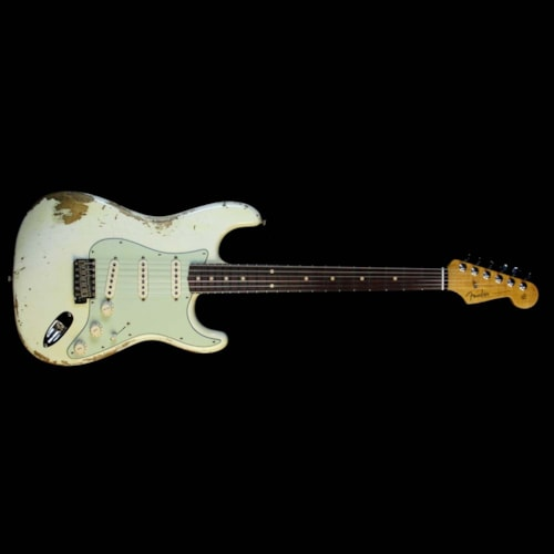 Fender Custom Shop '60 Stratocaster Relic Aged Olympic White Excellent, $3,400.00