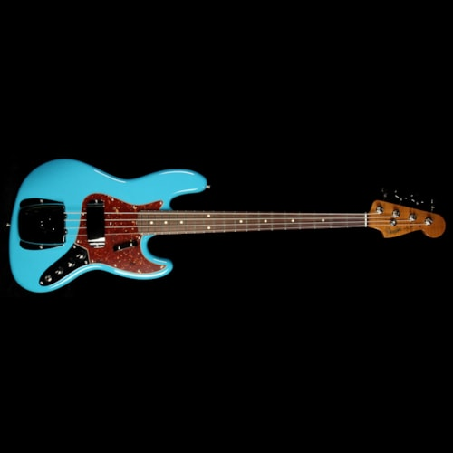 Fender Custom Shop '64 Jazz Bass Roasted NOS Electric Bass Faded Taos Turquoise Brand New, $3,449.99