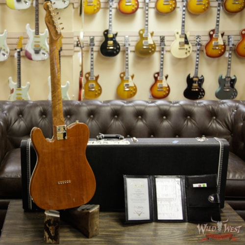 2018 Fender 2018 Fender Custom Shop Artisan Telecaster Figured Rosewood Top Roasted Birdseye Maple Neck African Blackwood Board Natural Natural