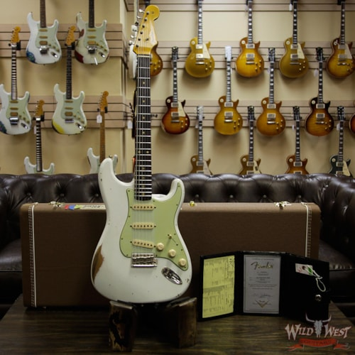 2019 Fender Custom Shop 1961 Stratocaster Relic Rosewood Fingerboard Olympic White Olympic White
