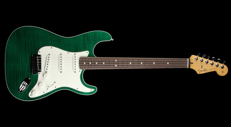 Fender Custom Shop Double Bound Slab Body Stratocaster Emerald Green Transparent Emerald Green Transparent, Brand New, $3,839.99