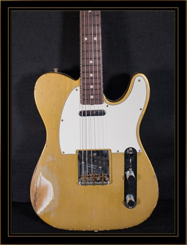 Fender® Custom Shop Greg Fessler Master Built 62 Relic® Tele® HLE Gold, Brand New, Original Hard, $6,400.00