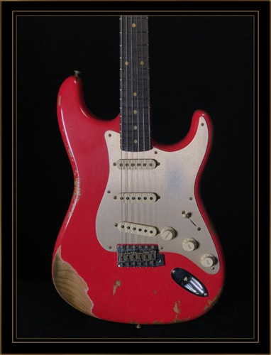 Fender Custom Shop LTD '59 Heavy Relic Roasted Strat in Aged Fiesta Red