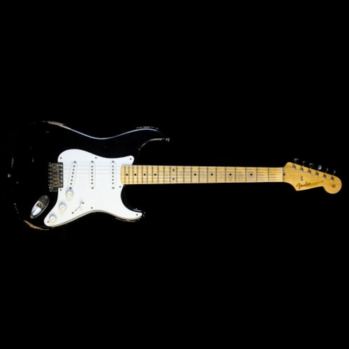 Fender Custom Shop Masterbuilt Todd Krause '56 Active Stratocaster Relic Electric Guitar Black Brand New, $6,960.00