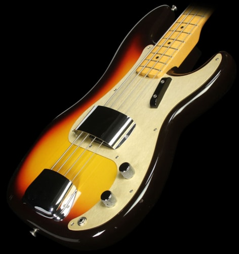 2010 Fender Custom Shop Used 2010 Fender Custom Shop 1958 Precision Bass Reissue NOS Electric Bass Guitar Three-Tone Sunburst