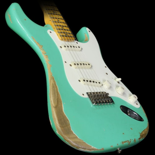 Fender Custom Shop Used 2012 Fender Custom Shop '57 Stratocaster Relic Electric Guitar Seafoam Green Seafoam Green, Excellent, $3,199.00