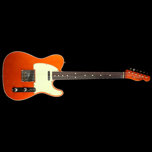 Fender Custom Shop Used 2014 Fender Custom Shop '60 Custom Telecaster Relic Electric Guitar Candy Tangerine with Matching Headstock Candy Tangerine, Excellent, $2,899.00