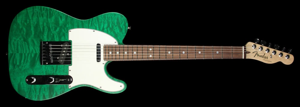 Fender Custom Shop Used Fender Custom Shop Custom Deluxe Telecaster Emerald Green Transparent Emerald Green Transparent, Excellent, $2,099.00
