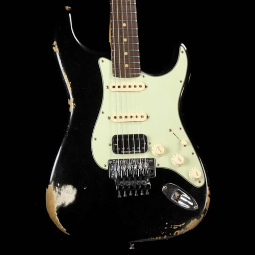 Fender Custom Shop ZF Stratocaster Music Zoo Exclusive Heavy Relic Black Excellent, $3,299.00