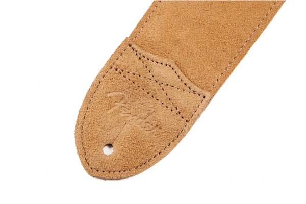"Fender ""F"" Suede Strap Tan, Brand New, $39.99"