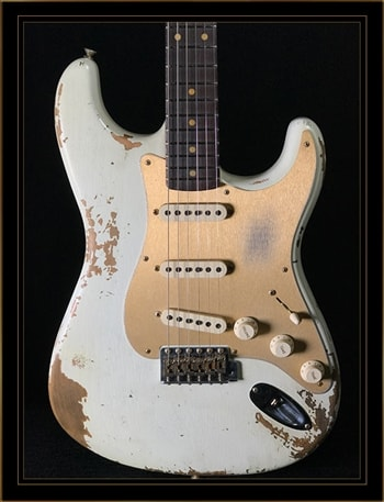 Fender Fender Custom Shop Limited Edition Heavy Relic '59 Roasted Strat in Aged Olympic White